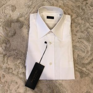 Valentino mens white dress shirt size 16 32/33